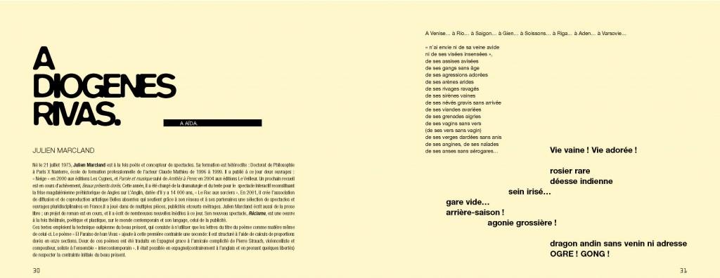 """Extrait de la revue franco-américaine """"Carnet de route"""" - Editeur: Molly Lou Freeman - Graphiste: Jean-Hugues Bancaud"""
